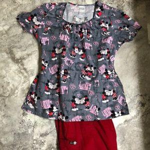 Scrub set Large, KOI and Disney/Mickey